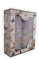 Набор махровых полотенец Турция (50x90 и 70x140), фото 1