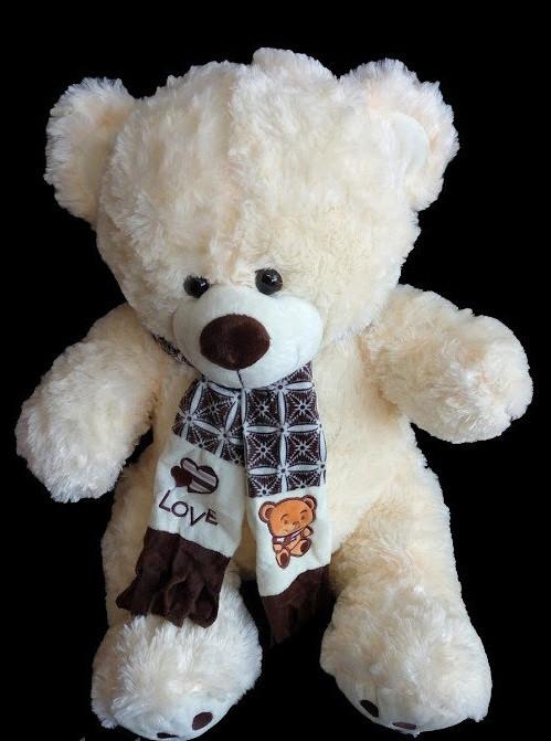 Милий подарунок для коханої дівчини Ведмедик 41 см м'яка плюшева іграшка ведмідь в шарфі