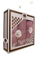 Набор махровых полотенец Турция (50x90x2 и 70x140), фото 1