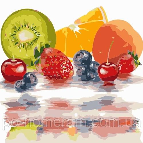 Раскраски фрукты - нарисуй картину для кухни