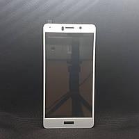 Защитное стекло для Huawei Honor 6X (BLN-L21) Белое на весь экран