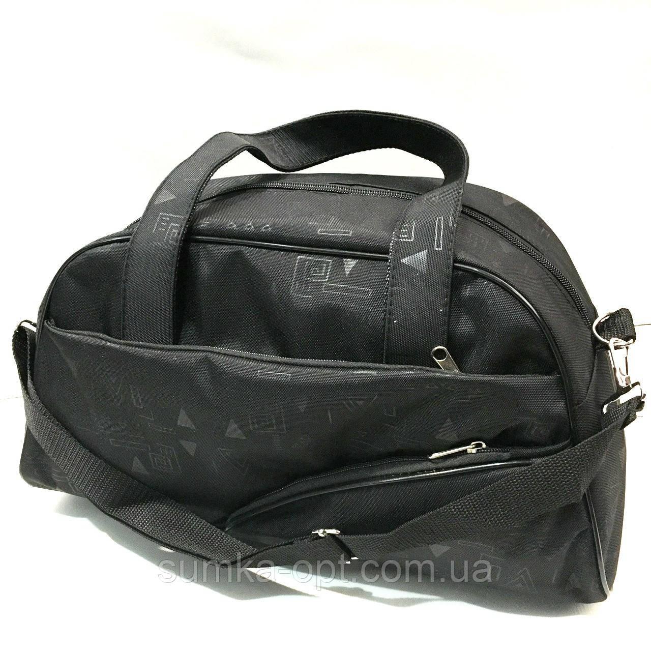 Універсальні дорожні сумки Україна (чорний принт)25*42см
