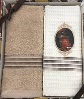 Набор кухонных махровых полотенец с вышивкой 3D  50х70 см(Турция), фото 1