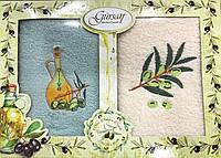 Набор кухонных махровых полотенец с вышивкой  40х60 см(Турция), фото 1