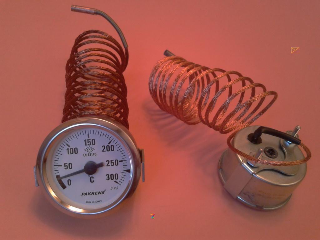 Капілярний Термометр PAKKENS Ø60мм від 0 до 300°С, довжина капіляра 2м Туреччина