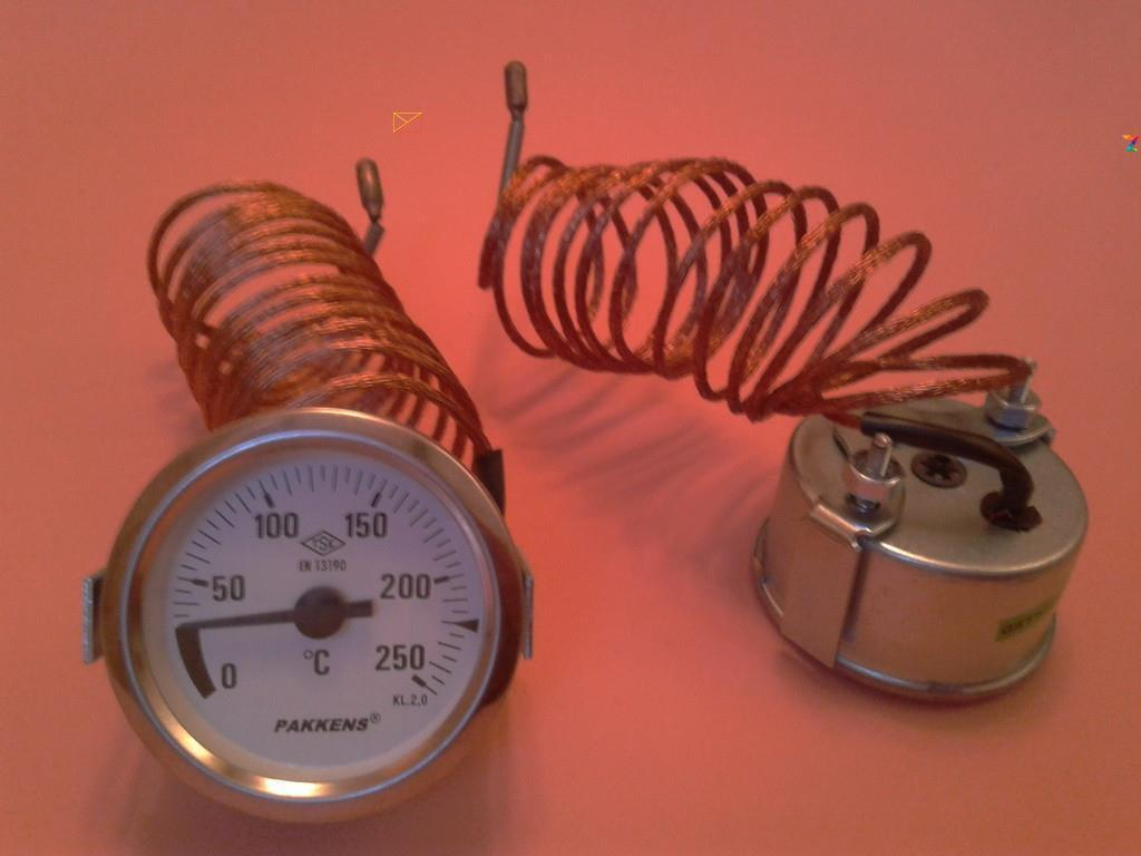Капілярний Термометр PAKKENS Ø60мм від 0 до 250°С, довжина капіляра 2м Туреччина