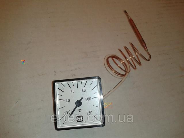 Капілярний Термометр MMG квадратний 45мм*45мм Tmax=120°С, довжина капіляра 1м MMG, Угорщина