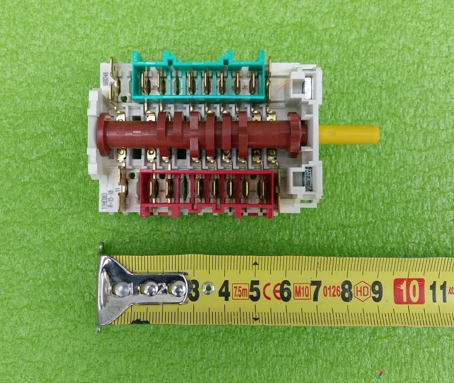 Переключатель режимов семипозиционный DREEFS 11HE083 / R-1518 / 669248 для электродуховок, электроплит  Италия