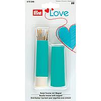 Вращающаяся игольница-«твистер» «Prym Love» с швейными иглами и иглами для штопки