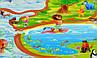 Детский игровой коврик для ползания ребенка «Happy Kinder» XXXL 3000х1200x8 мм, фото 4
