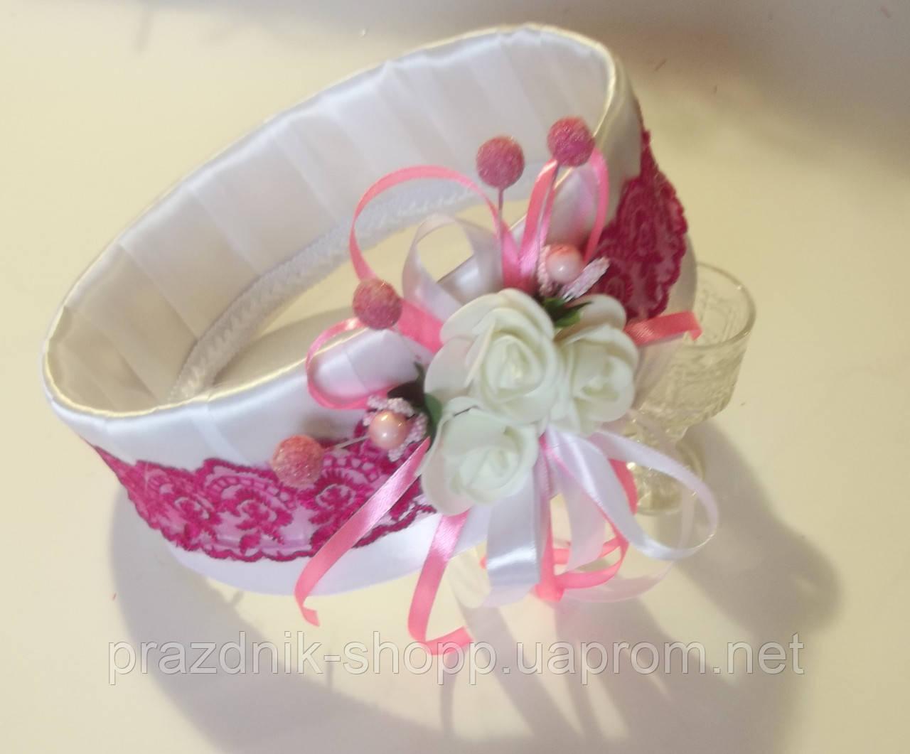 Свадебное сито, бело розовое.