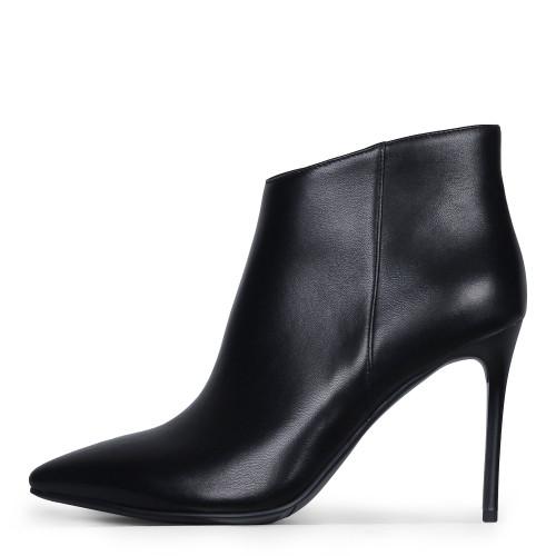 Элегантные кожаные демисезонные женские ботинки на шпильке ANGELO