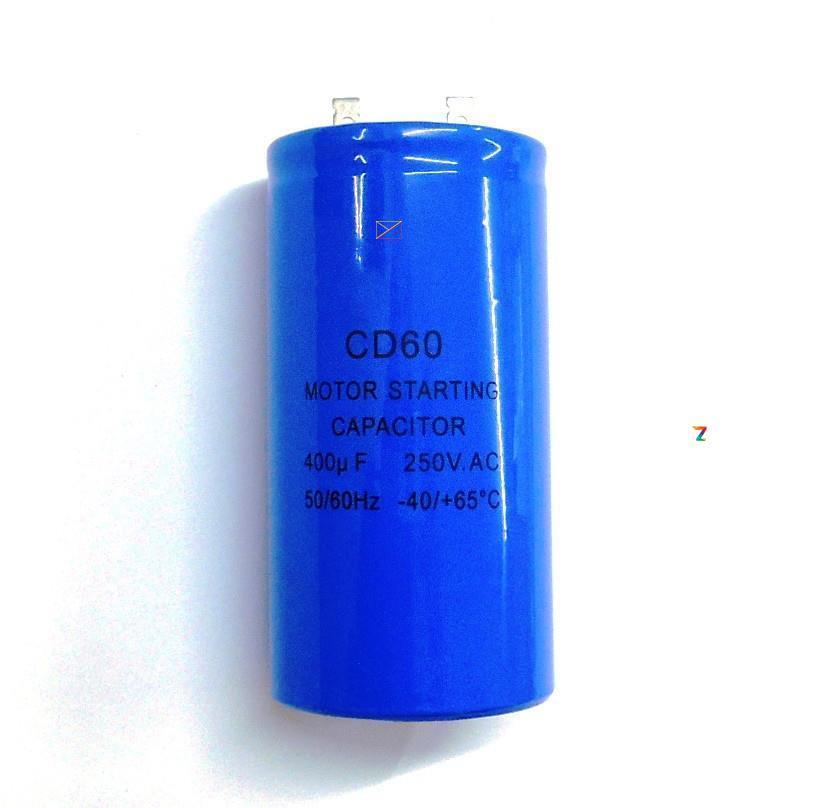 Пусковой конденсатор 400 мкФ 250 V CD60 для электродвигателя