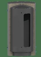 Теплоаккумулятор TS PlusTerm из нержавеющей стали изоляция мягкая 90 мм, 400 литров