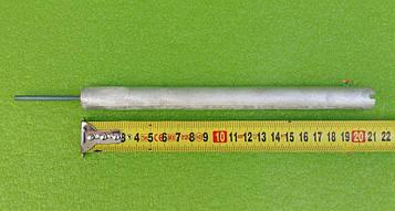 Анод магнієвий Італія Ø18мм / L=210мм / різьблення M4*50мм оригінал