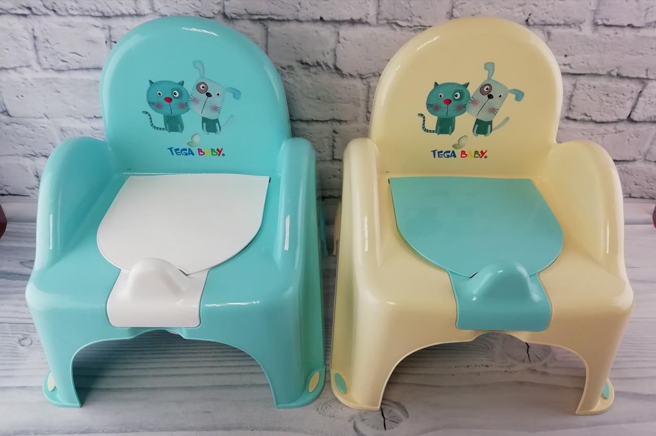 Горшок-кресло детский Музыкальный Пес и кот РО-063 Tega Baby Польша