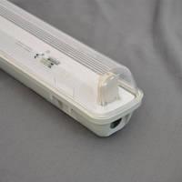 City 1х600 линейный светильник IP65 с крышкой под LED (ЛЕД) лампы Т8 600 без ПРА