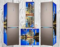 Дизайнерские наклейки на холодильник Нью йорк