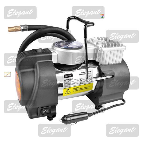 Компрессор автомобильный (насос) Elegant Force Maxi c манометром и сигнальным фонарем EL 100 095