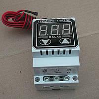 Терморегулятор до 125'C на din рейку 40 ампер,  цифровой