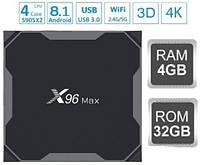 Смарт ТВ Приставка X96 MAX 4гб 32Гб Amlogic S905X2 Смарт Бокс 4-32 tv box x96 Макс Smart box Android 8