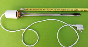 """Тэн нержавейка для чугунной батареи 2500W на резьбе 1 1/4""""(Украина) с итальянским терморегулятором(с колпаком)"""
