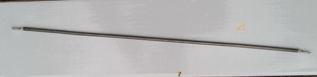 Тэн гибкий прямой (воздушный) Ø6,5мм / 2200W / длина L= 200см из нержавейки Sanal, Турция