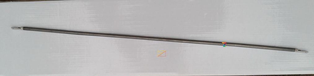Тэн гибкий прямой (воздушный) Ø6,5мм / 1500W / длина L= 150см из нержавейки Турция