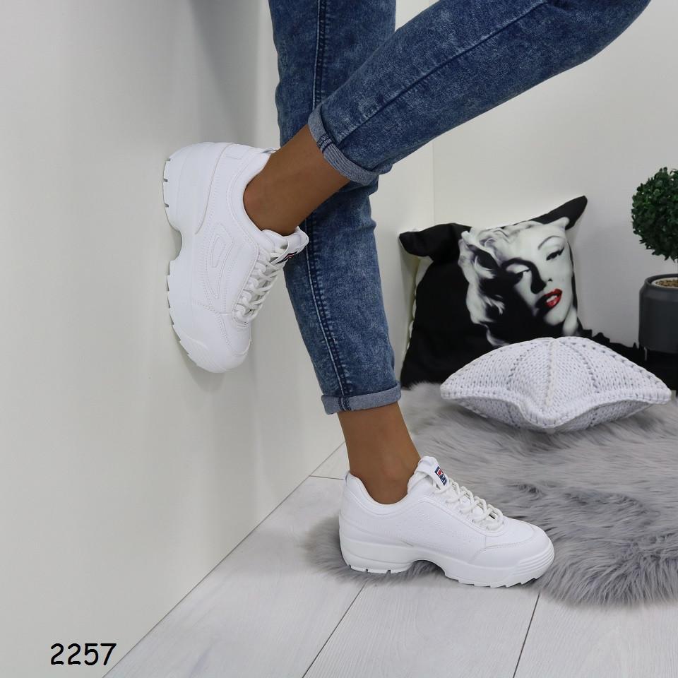 Женские кроссовки ткань эко кожа, танкетка 3см, платформа 2см