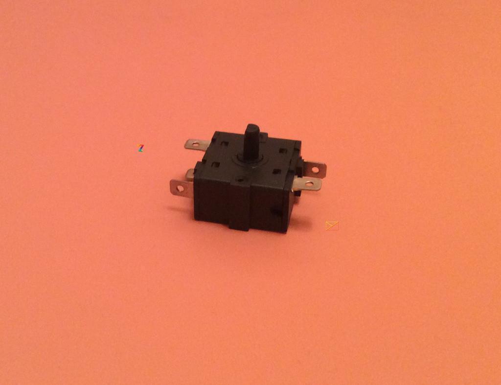 Переключатель мощности на 5 выходов (контакты 2+3) / 16A / 250V для обогревателей, электрокаминов Китай