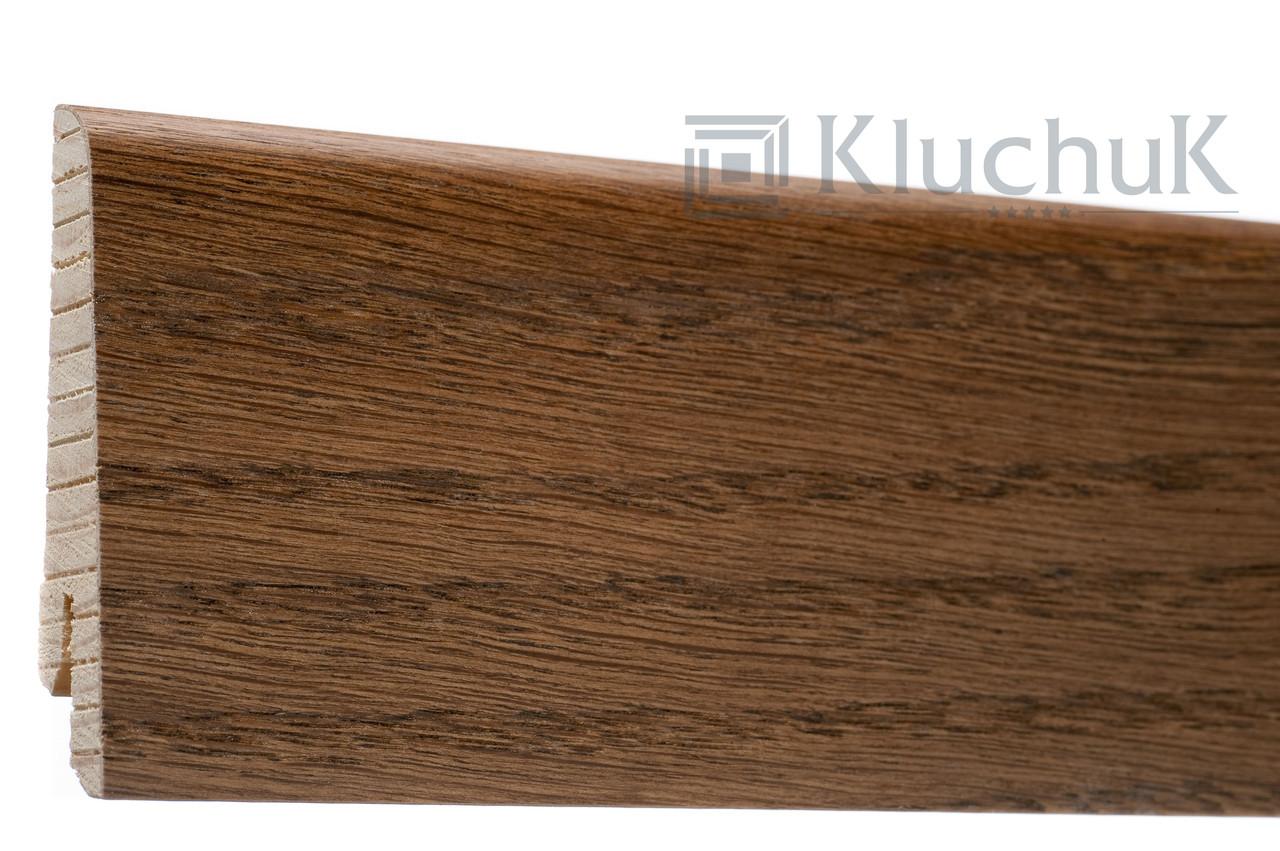 Плинтус Kluchuk Евро KLE60-13 Дуб Браун 60мм