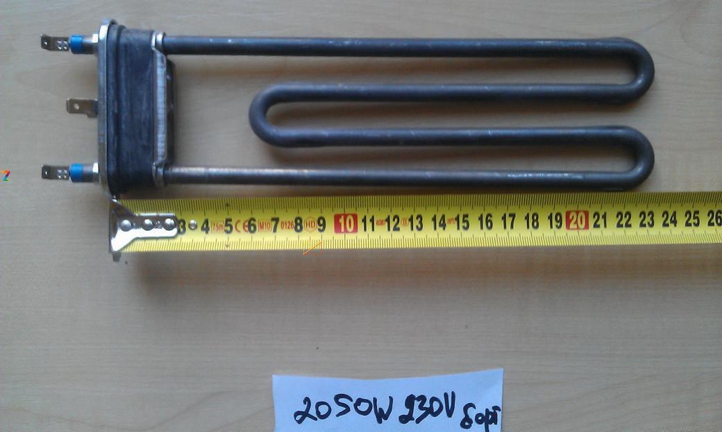 Тэн на стиральную машину 2050 W / L=240мм (без места под датчик) Thermowatt, Италия