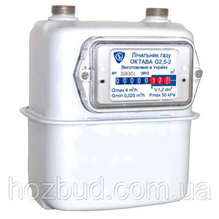 Газовий мембранний лічильник Октава G2.5