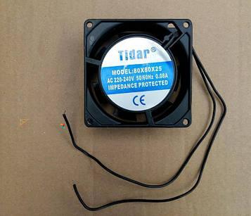 Вентилятор осьовий універсальний Tidar 80мм*80мм*25мм / 220-240V / 0,08 А / 11W (квадратний)