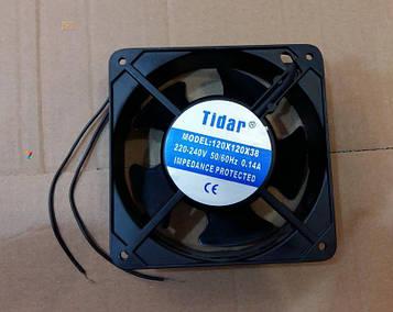 Вентилятор осьовий універсальний Tidar 120мм*120мм*38мм / 220-240V / 0,14 А / 23W (КВАДРАТНИЙ)