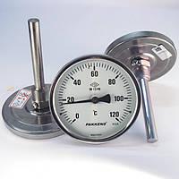 Термометр осевой 0 200°С с погружной гильзой 10 см Ø100, Pakkens