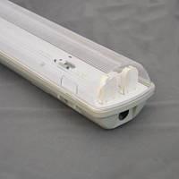 City 2х1200 линейный светильник IP65 с крышкой под LED (ЛЕД) лампы Т8 1200 без ПРА
