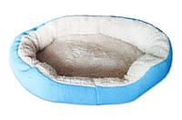 Мягкое место для животных круглое синее 19-89-91, размер S