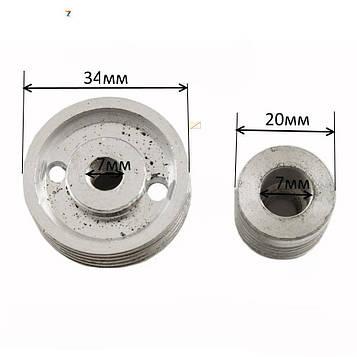 Шкив на рубанок/шлифмашинку 4 ручья (34-20-7 мм)