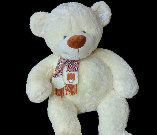 М'який сувенір Ведмедик 30 см плюшевий ведмідь у шарфі милий подарунок