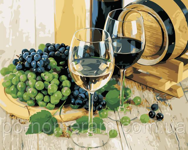 Подарок ресторатору - картина по номерам вино