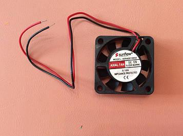 Вентилятор осьовий універсальний Sunflow 40мм*40мм*10мм / 12V / 0,10 А /(квадратний)