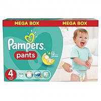 Подгузники-трусики Pampers Pants Размер 4 (Junior) Mega Box 8-14 кг, 104 шт