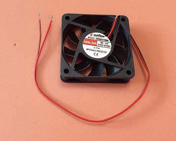 Вентилятор осьовий універсальний Sunflow 60мм*60мм*15мм / 12V / 0,11 А /(квадратний)