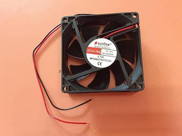 Вентилятор осьовий універсальний Sunflow 80мм*80мм*25мм / 24V / 0,10 А /(квадратний)