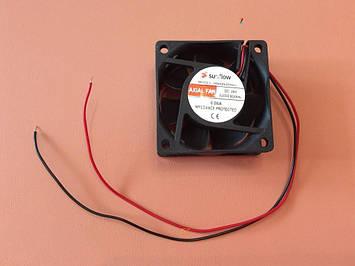Вентилятор осьовий універсальний Sunflow 60мм*60мм*25мм / 24V / 0,08 А /(квадратний)