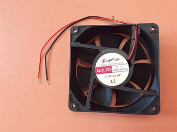 Вентилятор осьовий універсальний Sunflow 120мм*120мм*38мм / 12V / 0,34 А /(квадратний)