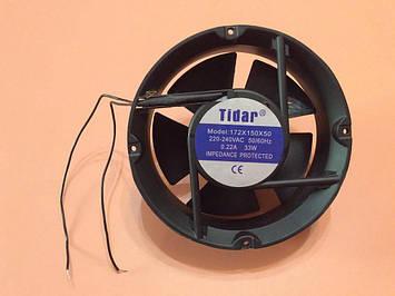 Вентилятор осьовий універсальний Tidar 172мм*172мм*50мм / 220-240V / 0,22 А / 33W (КРУГЛИЙ)