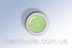 Exclusive Glitter gel-074 Зеленый, 6 ml, Le Vole