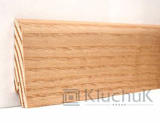 Плинтус Kluchuk Евро KLE60-04 Ясень Натуральный 60мм
